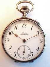 Taschenuhr, aus Schlawe / Pommern, Silber, Junghans, antik, pocket watch, (K)