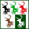 6-10 Christmas Deer Head Snowflake Die Cut Embellishment Card Topper Paper Craft