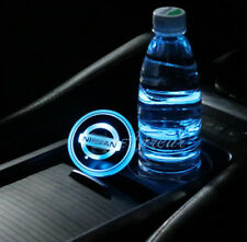 2PCS Colorful LED Car Cup Holder Pad for NISSAN Auto Interior Atmosphere Lights
