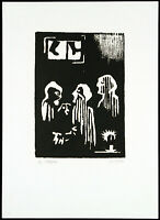 "DDR-Kunst. ""Die Illegalen"", 1980. Herbert SANDBERG (1908-1991 D) handsigniert"
