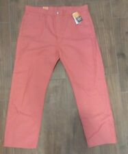 LEVI'S 501 Men's Shrink to Fit Raw Unwashed Pink Jeans Size 40x30 Denim
