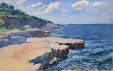 PAINTING KUBISTA VIEW OF THE SEA AT PULA XXL POSTER WALL ART PRINT LLF0323