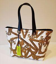 Versace Jeans Large Designer Tote Bag Handbag Statement Column Print BNWT