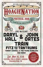 DARYL HALL & JOHN OATES / TRAIN 2018 PHILADELPHIA CONCERT TOUR POSTER - Pop Rock