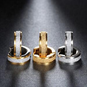 Klapp Creolen Diamantiert Edelstahl Damen Herren Ohrringe Kreolen Unisex