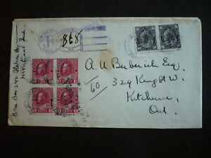Postal History - Canada - Cover - Scott# 66 & 109
