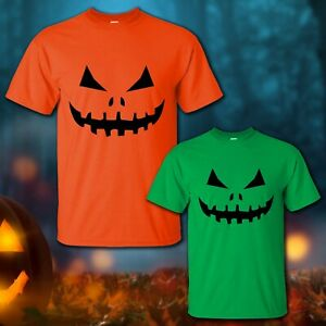 Halloween Pumpkin Face Scary Eyes Mouth T-Shirt