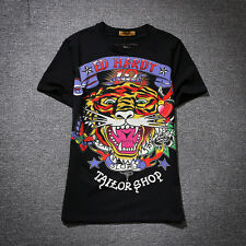 ED HARDY Tiger Head Personalized Tee Men&Women T-shirt #7002 Size S-4XL