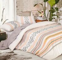 Cotton Doona Duvet Quilt Cover Set With Pillowcases Multicoloured Queen Size
