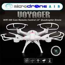 "MicroDRONE- Voyager  Wifi HD Cam Quadcopter Drone- 12"" Remote Control-Phone View"