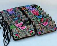 1pcs Women Ethnic Embroider Purse Wallet Clutch Card Coin Holder Phone Hand Bag