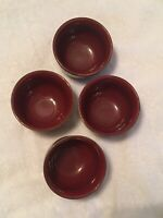 Pottery Barn Brown Sauce Dipping Condiment Bowls Set of 4