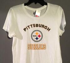 Pittsburgh Steelers Small Women White Shirt Tshirt Majestic New NFL Girls New