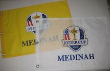 2012 RYDER CUP Tournament Pin Flag Set - 1 Embroidered & 1 Screen Printed