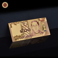 WR 2014 Thailand 500 Baht Gold Banknote Colored World Paper Money Collection 24K