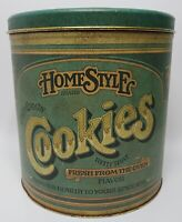 Vintage HomeStyle Cookies Tin Ballonoff Container 1979 Kitchen Storage Metal