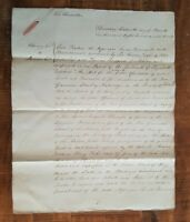 ANTIQUE English Hand Written Land Indenture/Kent Co. - 16 March 1820/Signed