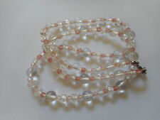 """Vintage faceted and pool of lights quartz crystal necklace, 24"""""""