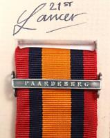 QSA QUEENS SOUTH AFRICA MEDAL RIBBON BAR CLASP PAARDEBERG BOER WAR CAMPAIGN