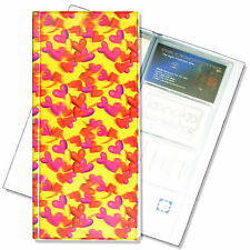 Business Card Book File Red Orange Heart Yellow3D Lenticular #R-130-BF128#