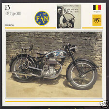 1951 FN F.N. 425cc Type XIII Fabrique Nationale Belgium Motorcycle Photo Card
