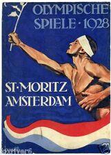 Olympics Amsterdam 1928 Mini-poster / Handbill Summer Olympic Games - reprint