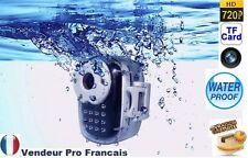 Mini Camera Embarquée avec Boitier Etanche Grand Angle 120° Photo 720P HD DV SD