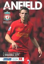LIVERPOOL v SWANSEA CAPITAL ONE CUP 2012/13 MINT PROGRAMME