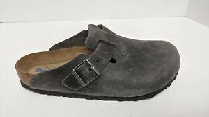 Birkenstock Boston Clogs, Iron Leather, Women's 10 M (EU 41)