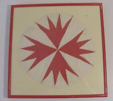 Framed Quilting Block - Round Shape - Star or Cross Pattern