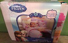 Disney FROZEN Love Blooms Twin Sheet Set Anna & Elsa Childrens Bedding NEW