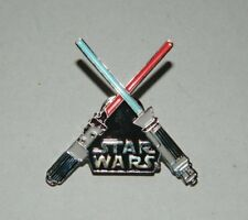 Classic Star Wars Crossed Lightsabers Cloisonne Metal Pin 1996 NEW UNUSED