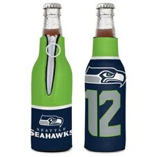 SEATTLE SEAHAWKS 12TH MAN BOTTLE HOLDER COOZIE KOOZIE COOLER WITH ZIPPER