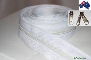 Medium Light No 8 Duty Tent, Camping Continuous Zipper, Zip, Meter, white