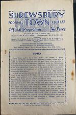 More details for shrewsbury town v denaby united (last season as a non league club) 1949/50