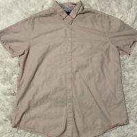 Denim & Flower Ricky Singh Mens Sz Large Slim Fit Short Sleeve Button Down Shirt