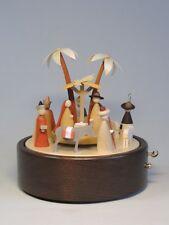 Carillon CHRISTI nascita legno naturale design 22 cm Monti Metalliferi NUOVO