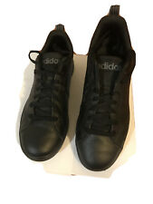 Adidas Mens US size 7 Black Sneaker Leather Shoe Good Condition