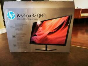 """HP Pavilion 32"""" QHD Display 2K Quad HD 2560 x 1440 HDMI DisplayPort + WARRANTY!!"""