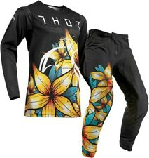 Thor Prime Pro FLORAL Black Offroad Motocross Race Kit Gear Adult