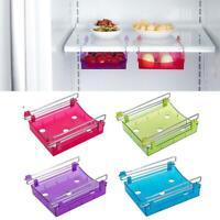 Kitchen Freezer Fridge Drawer Storage Racks Holders Blue Shelf Slide D9B7