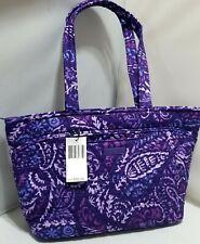 NWT Vera Bradley MANDY in purple PAISLEY AMETHYST Top-Zip Tote Bag
