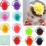 Baby Flower Head Bow Wrap Headband Girls Kids Chiffon Headwear Hairband Gifts