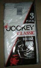 3 Pair Vintage 90s 1991 JOCKEY Classic Cotton  Brief  New Mens Size 32