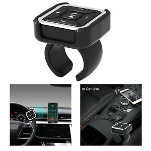 BT009 Car Steering Wheel Mount Bluetooth 5.0 Remote Control for IOS / Android