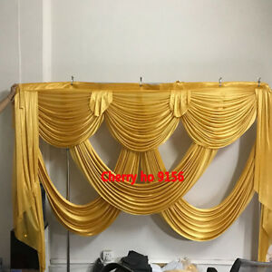 Gold wedding backdrop curtain for wedding decoration suitable for 3*3M drapery