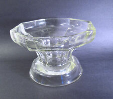 """1940s MARKED MCKEE GLASS JEANNETTE PA - GLASS """"COLONIAL PANEL"""" PUNCH BOWL STAND"""