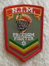 HAILE SELASSIE PATCH Badge H.I.M. His Imperial Majesty Freedom Fighter Rasta