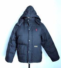 POLO RALPH LAUREN, puffer snow down jacket coat hood BOY'S  SIZE M 10-12, black