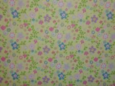 Clearance 2 Yards Church Kitchen Ladies Floral Yellow Fabri Quilt Cotton Fabric
